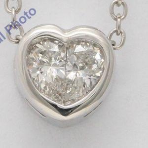 18K Diamond Heart Pendant 0.4 Ct C19000311